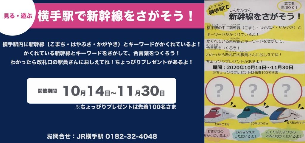 横手駅で新幹線をさがそう!