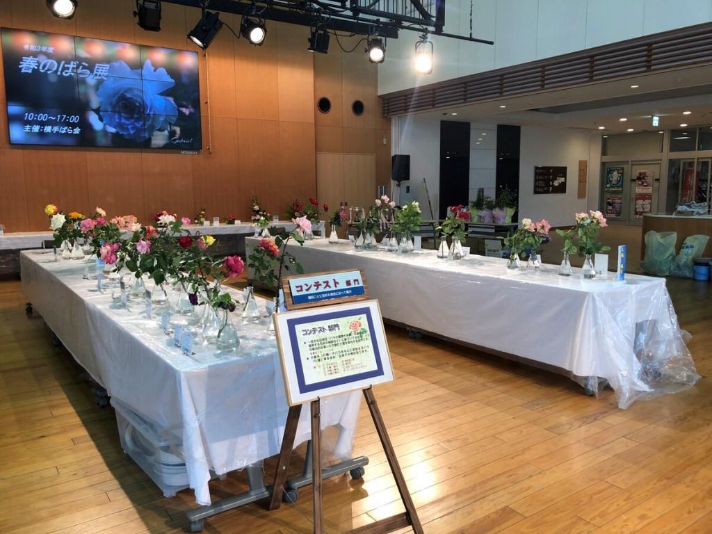 横手でバラの展示会 2年ぶりの開催、100人が来場