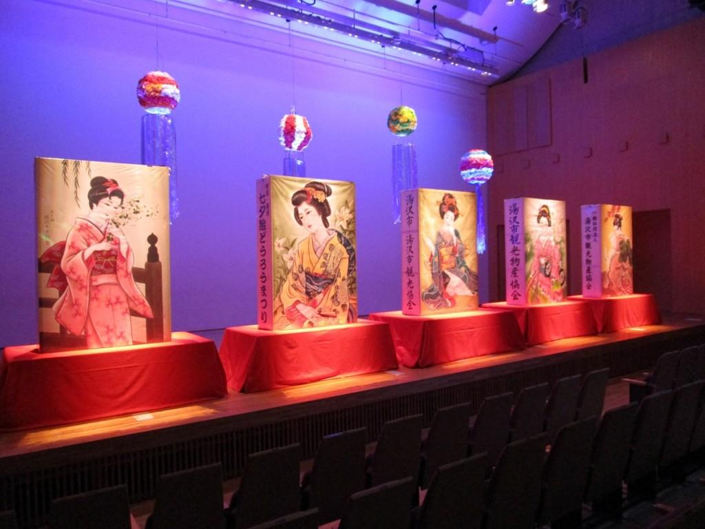 湯沢で「絵どうろう」展示会 中止の伝統行事に代え