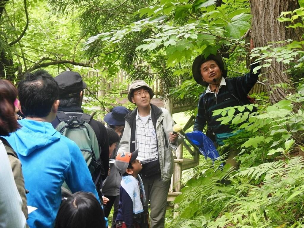 横手「真人山」で自然観察会 理科教諭らグループが企画