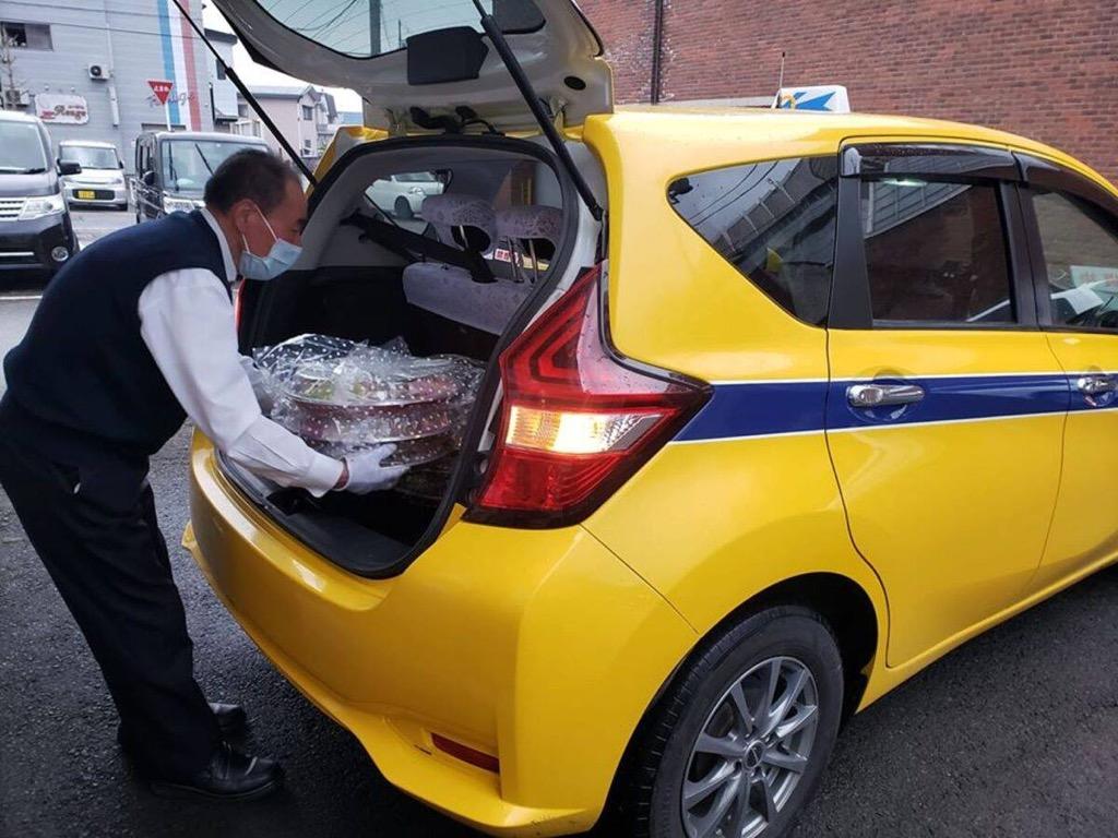 横手のタクシー会社がデリバリーサービス 市内飲食店35店に対応